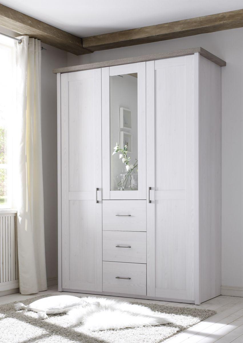 Senioren Schlafzimmer Komplett Set 3 tlg LUCA K Komfort Seniorenzimmer Pinie weiß