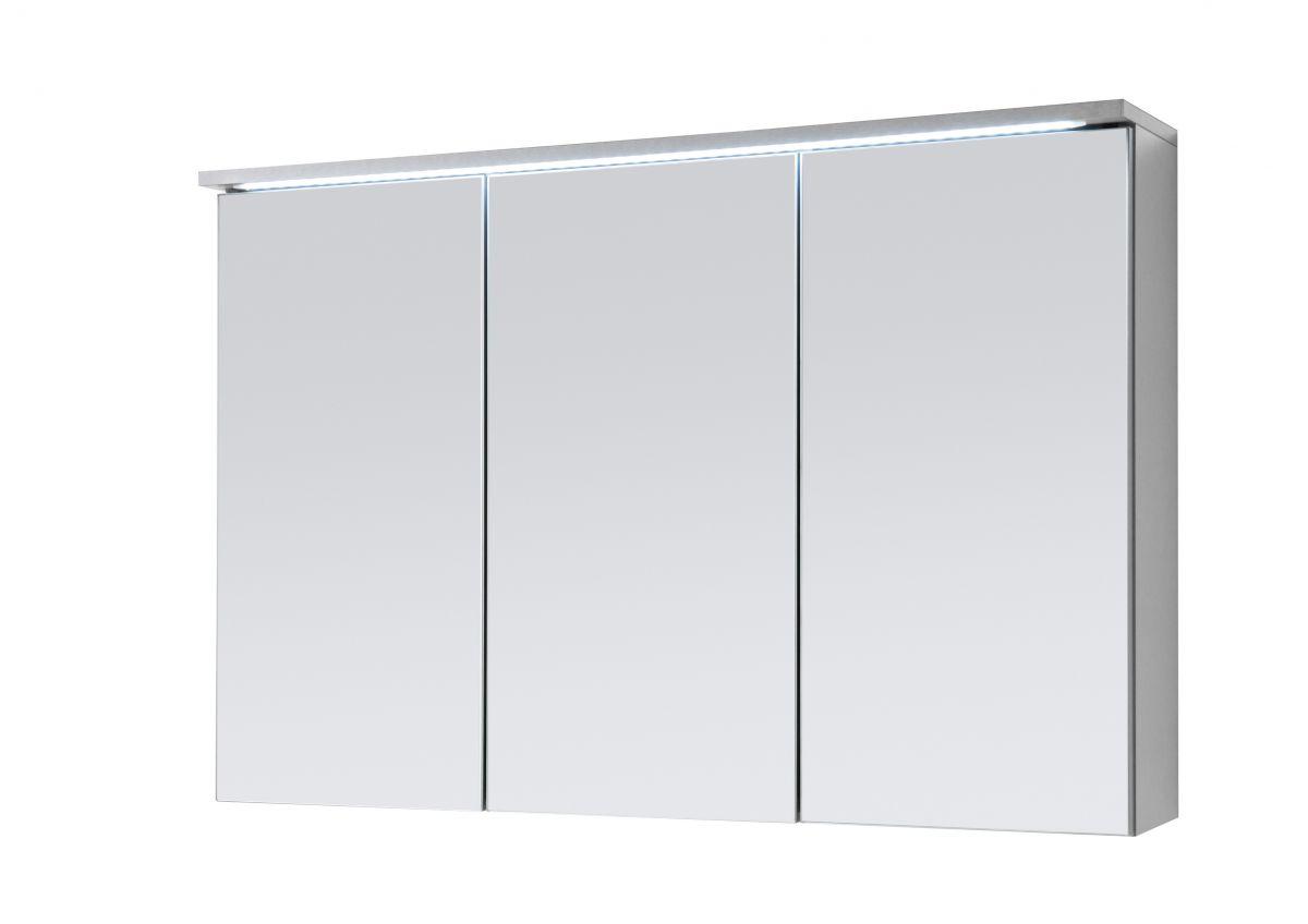Spiegelschrank Bad TWO mit LED Beleuchtung Badspiegel Badschrank Spiegel  grau Titan