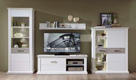 Wohnwand Wohnzimmer-Set MODENA 4 tlg Schrank Kommode Lowboard Wandregal1