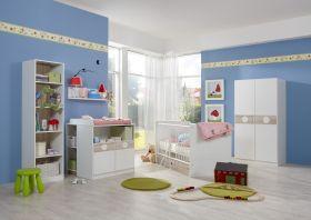 Babyzimmer-Set KIMBA 7tlg Komplett Bett Wickelkommode kl Schrank Regal Eiche1