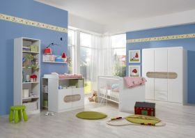 Babyzimmer-Set LILLY 5t Komplett Bett Wickelkommode Schrank Regal San Remo-Eiche1