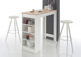 Bartisch MOJITO Stehtisch Bistrotisch Tisch Küchentisch weiß Eiche Sonoma Regal1