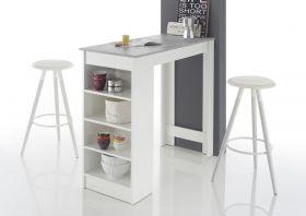 Bartisch MOJITO Stehtisch Bistrotisch Tisch Küchentisch weiß grau Beton Regal1