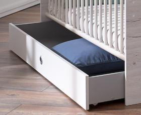 Bettkasten BORNHOLM Babybett Kinderbett Bett Kinderzimmer Babyzimmer Weisseiche1