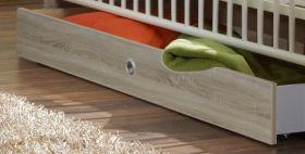 Bettkasten Schubkasten Babybett Kinderbett Bett Kinderzimmer Babyzimmer Eiche1