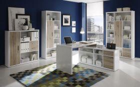 Büromöbel-Set Komplett Set TOKYO Schreibtisch Büroeinrichtung Büro San Remo hell1
