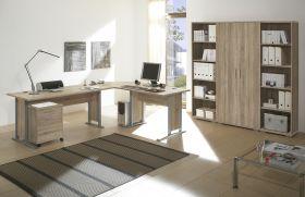 Büromöbel-Set OFFICE LINE Schreibtisch Eckschreibtisch Winkelschreibtisch Eiche1