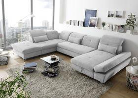 Couch MELFI L Sofa Schlafcouch Wohnlandschaft Bettsofa Schlaffunktion U-Form1
