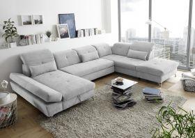 Couch MELFI R Sofa Schlafcouch Wohnlandschaft Bettsofa Schlaffunktion U-Form1