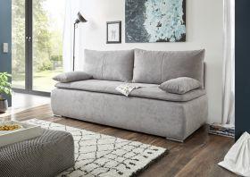 Couch Sofa Zweisitzer JANA Schlafcouch Schlafsofa ausziehbar schlamm grau 208 cm1