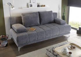 Couch Sofa Zweisitzer JENNY Schlafcouch Schlafsofa ausziehbar anthrazit 203cm1