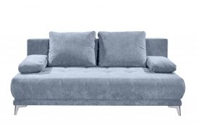 Couch Sofa Zweisitzer JENNY Schlafcouch Schlafsofa ausziehbar denim blau 203cm1