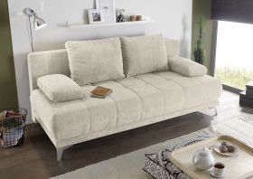 Couch Sofa Zweisitzer JENNY Schlafcouch Schlafsofa ausziehbar sand beige 203cm1