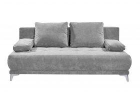 Couch Sofa Zweisitzer JENNY Schlafcouch Schlafsofa ausziehbar schlamm grau 203cm1