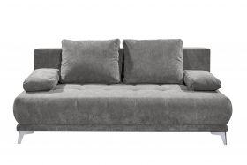 Couch Sofa Zweisitzer JENNY Schlafcouch Schlafsofa ausziehbar stone grau1