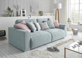 Couch Sofa Zweisitzer LAZY Schlafcouch Schlafsofa ausziehbar aqua blau 250cm1