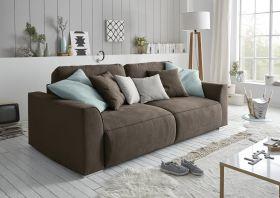 Couch Sofa Zweisitzer LAZY Schlafcouch Schlafsofa ausziehbar braun 250cm1