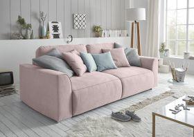 Couch Sofa Zweisitzer LAZY Schlafcouch Schlafsofa ausziehbar flamingo rosa 250cm1
