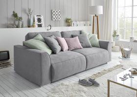 Couch Sofa Zweisitzer LAZY Schlafcouch Schlafsofa ausziehbar grau 250cm1