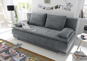 Couch Sofa Zweisitzer LUIGI Schlafcouch Schlafsofa ausziehbar anthrazit 208cm1