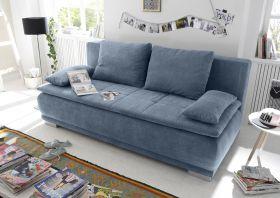 Couch Sofa Zweisitzer LUIGI Schlafcouch Schlafsofa ausziehbar denim blau 208cm1