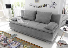 Couch Sofa Zweisitzer LUIGI Schlafcouch Schlafsofa ausziehbar schlamm grau 208cm1
