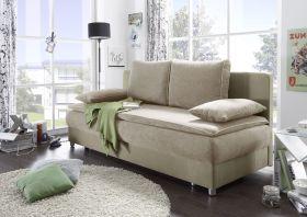Couch SVENJA Schlafsofa Sofabett Funktionssofa ausziehbar beige 208cm1