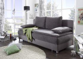 Couch SVENJA Schlafsofa Sofabett Funktionssofa ausziehbar grau 208cm1