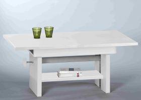Couchtisch EVENT Wohnzimmertisch Beistelltisch Tisch Höhenverstellbar in Weiss1