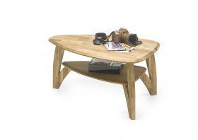 Couchtisch Laval M Beistelltisch Wohnzimmertisch Tisch Eiche massiv oval 90cm1