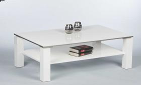 Couchtisch ROMY Beistelltisch Wohnzimmertisch Tisch in Hochglanz weiß1