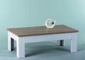 Couchtisch Wohnzimmertisch Beistelltisch Tisch Holz hell rechteckig Landhaus1