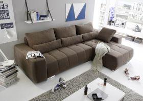 Eckcouch Lopez Couch Schlafsofa Funktionssofa ausziehbar braun 305 cm1