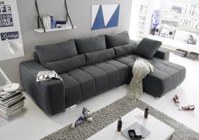 Eckcouch Lopez Couch Schlafsofa Funktionssofa ausziehbar grau 305 cm1