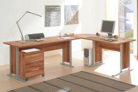 Eckschreibtisch OFFICELINE Winkelschreibtisch PC Tisch Schreibtisch Büro Walnuss1