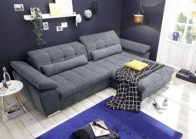 Ecksofa Couch CASA Schlafcouch Schlafsofa Funktionssofa ausziehbar anthrazit1