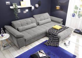 Ecksofa Couch CASA Schlafcouch Schlafsofa Funktionssofa ausziehbar grau L-Form1