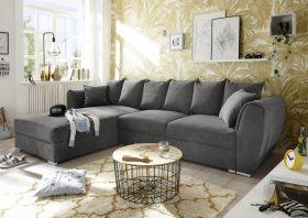 Ecksofa Couch MIRA Sofa Bettsofa Schlafcouch stone grau braun L-Form universell1