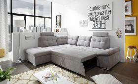 Ecksofa Couch NALO XL Sofa Schlafcouch Bettsofa schlamm grau L-Form links1