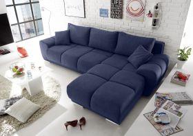 Ecksofa Couch Schlafcouch Bettsofa Schlafsofa Funktionssofa ausziehbar blau1