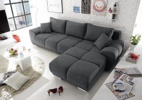 Ecksofa Couch Schlafcouch Schlafsofa Funktionssofa ausziehbar anthrazit 289 cm1