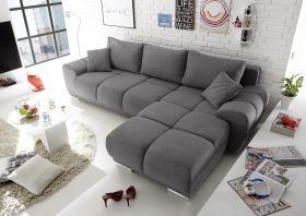 Ecksofa Couch Schlafcouch Schlafsofa Funktionssofa ausziehbar dunkelgrau 289 cm1