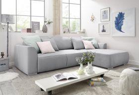 Ecksofa LAZY Couch Schlafcouch Schlafsofa Funktionssofa ausziehbar grau L-Form1