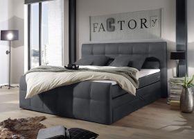 Funktionspolsterbett Boxspringbett Doppelbett Bett 180cm grau anthrazit SACB21