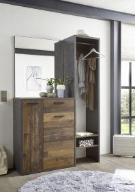garderobe-bridge-kompaktgarderobe-spiegel-paneel-kommode-grau-old-wood1