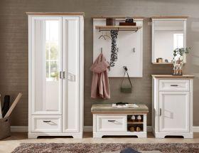 garderobe-set-jasmin3-5tlg-hochschrank-paneel-spiegel-kommode-bank-landhaus-weiss1