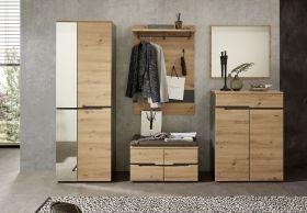 garderobe-set-memphis1-5-tlg-hochschrank-paneel-spiegel-kommode-bank-eiche-braun1