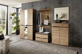 garderobe-set-memphis2-5-tlg-hochschrank-paneel-spiegel-kommode-bank-eiche-braun1