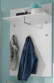 Garderobe SPICE Paneel, Wandpaneel, Garderobenpaneel, Kleiderstange, Weiß1