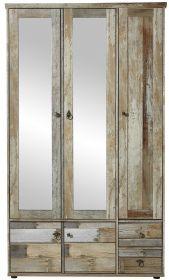 Garderobenschrank Dielenschrank Hochschrank BONANZA Driftwood vintage shabby1